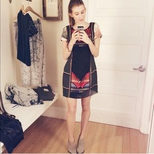Fun Mini Dress Anthropologie Size 2P